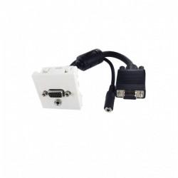Plastron 45x45  VGA + Audio...