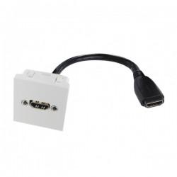 Plastron 45x45 HDMI 20cm FF...